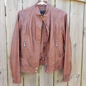 Bernardo Brown Faux Leather Jacket